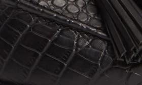 Black Croc Print Leather swatch image