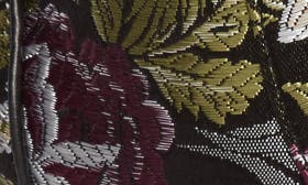 Black Floral Fabric swatch image