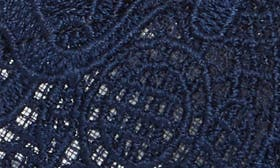 Navy Attalie Lace Fabric swatch image