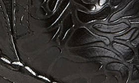 Black Embossed Rose Leather swatch image