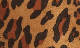 Tan Leopard Suede Leather swatch image