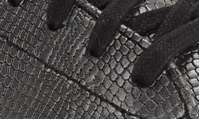 Black/Gunmetal Snake Leather swatch image