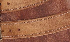 Tan Teak Driftwood Leather swatch image