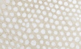 White Lizard Print Leather swatch image