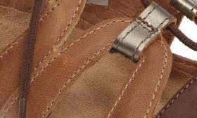 Brown/ Pewter Leather swatch image