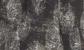 Black- Ivory Feather Print swatch image