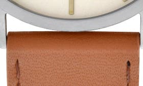 White/ Brown Leather swatch image