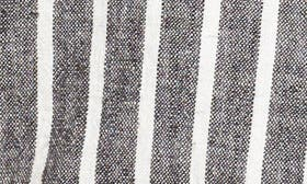 Black Ella Linen Stripe swatch image