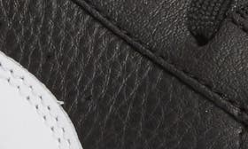 Black/ White Leather swatch image