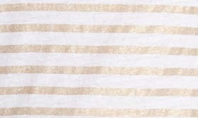 Blanc/ Gold Metal Stripe swatch image