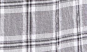 Black Seersucker Plaid swatch image