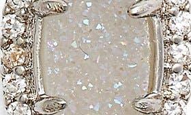 Silver Drusy White Cz swatch image