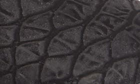 Black Print Faux Leather swatch image