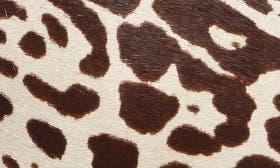 Black/ White Leopard Hair Calf swatch image