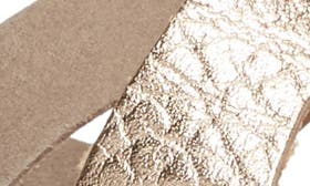 Coffee/ Rose Gold Leather swatch image