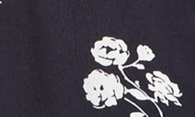 Navy White Floral swatch image
