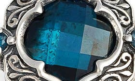 Silver/ Gold/ Blue Topaz swatch image