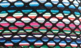Black/ Black Multi Leather swatch image