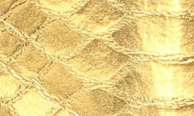 Gold Boa Print Leather swatch image