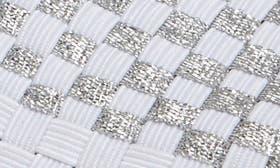Metallic White/ Silver Fabric swatch image
