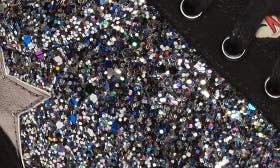 Black/ Gunmetal Faux Leather swatch image
