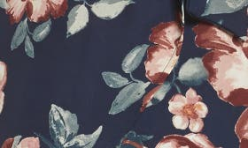 Navy/ Burgundy Floral swatch image