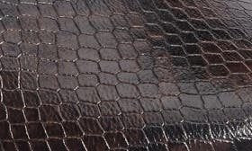 Chocolate Snake Print Leather swatch image