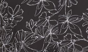 Black- White Floral swatch image