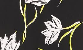 Black- Pink Tulip Print swatch image