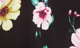 Black Ground Floral swatch image