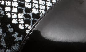 Black Print Leather swatch image