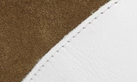 White/ Olive Leather swatch image
