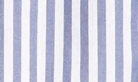 White With Blue Stripe swatch image