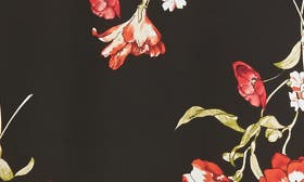 Black Red Floral swatch image