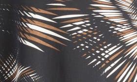 Brown/ Black Palm Leaf swatch image