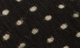 Black Polka Dot Leather swatch image