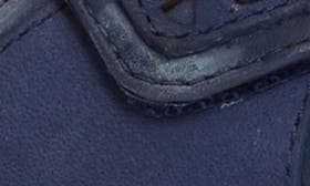 Blue Milled Nubuck Leather swatch image