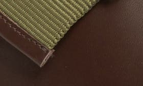 Expresso/ Tan Leather swatch image
