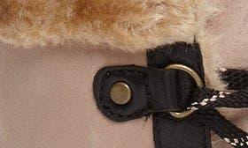 Cream/ Black Leather swatch image
