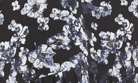 Black- Ivory Holiday Floral swatch image
