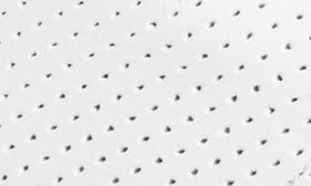 White Perforated Leather swatch image