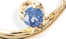 14K Gold Chain/ Light Sapphire swatch image