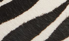 White/ Black Print Calf Hair swatch image