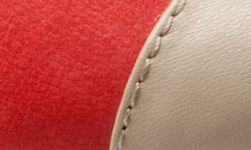 Red/ Nude Leather swatch image
