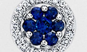 White Gold/ Blue Sapphire swatch image