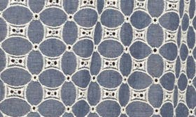 Blue White Embroidery swatch image