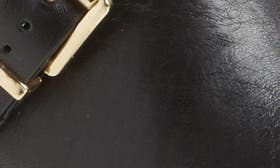 Black Leather Wide Calf swatch image