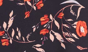 Black/ Red Floral swatch image