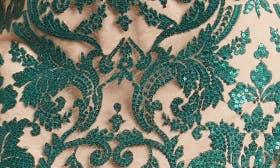 Emerald/ Nude swatch image
