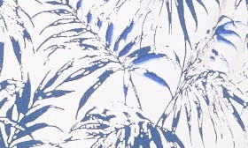 White Navy Stamped Palms swatch image